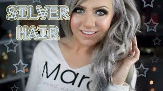 getlinkyoutube.com-SILVER HAIR TUTORIAL - BLONDE ROOT TOUCH UP - STEP BY STEP - UNDER 20$ AT HOME