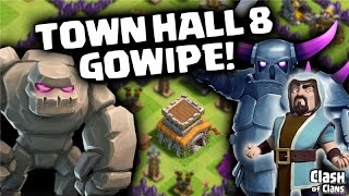 "getlinkyoutube.com-Clash of Clans ""Town Hall 8 Gowipe"" Three Star Clash Clan War Wins!"