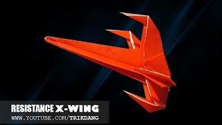 getlinkyoutube.com-Best Paper Planes: How to make a paper airplane model | Resistance X-wing