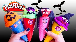 getlinkyoutube.com-Halloween Peppa Pig Ice Cream Parlor Building Toys Play Doh Ice Cream DIY La Heladería de Peppa Pig