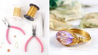 getlinkyoutube.com-Make a Simple Wire Ring - DIY Jewelry Making Tutorial