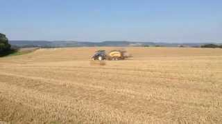 New Holland BigBaler 1290 and T7.210 Auto Command baling straw in Somerset