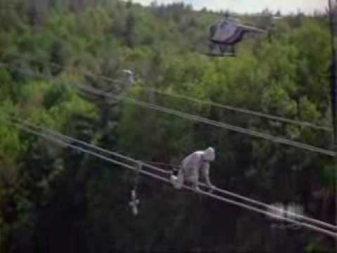 Exremely Dangerous job! High Power Line Worker