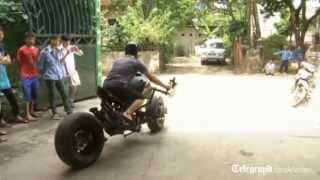 getlinkyoutube.com-Batman fan builds his own Batpod motorbike in Vietnam