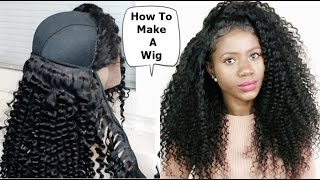 HOW TO MAKE A WIG WITH A LACE FRONTAL & BUNDLES START TO FINISH
