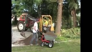 getlinkyoutube.com-Schubkarre mit Motor - Zallys Dumper-Jet, elektroschubkarre, Minidumper