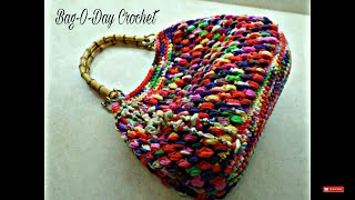 getlinkyoutube.com-CROCHET How to #Crochet Puff Bean Stitch Handbag Purse #TUTORIAL #271