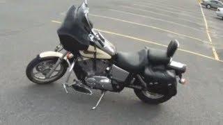 getlinkyoutube.com-Ninja 300 rider tries out a Cruiser! (Honda Shadow)