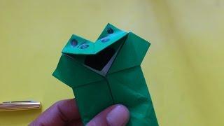 getlinkyoutube.com-Cara Membuat Origami Boneka Katak Mulut Bergerak | Origami Binatang