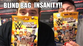 WWE STACK DOWN BLIND BAG OPENING ROYAL RUMBLE! Mini Figures FUN!