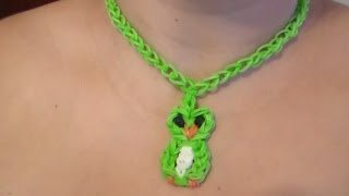 getlinkyoutube.com-Collar de Gomitas en Forma de Búho:/ Parte 1