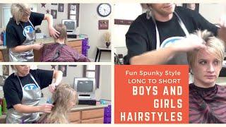 Long Hair (Ladies Haircut) To Short Hairstyles