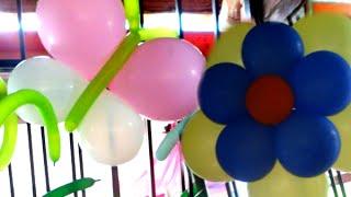 getlinkyoutube.com-Haz Flores y Mariposas de Globos para un Jardín en tus fiestas