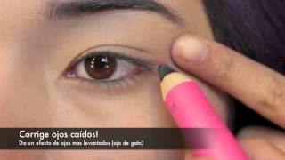 DELINEADOR EN LAPIZ SEGUN TU FORMA DE OJOS - EYELINER FOR YOUR EYE SHAPE
