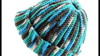 getlinkyoutube.com-Crochet: Gorro Ana (con Apertura para el pelo)