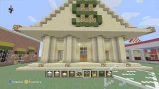 getlinkyoutube.com-Minecraft Let's Build a Bank Part 1