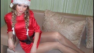 getlinkyoutube.com-Beauty Sexy Hot Christmas Girls in Pantyhose, Tights & Nylons
