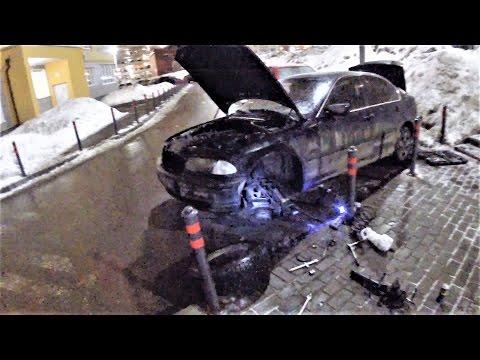 Расположение у BMW E36 передних пружин