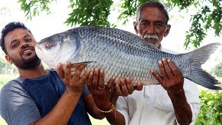 10-kg-Big-Fish-Recipe-Cooking-By-Our-Grandpa-Big-Fish-Curry-Donating-to-Orphans width=