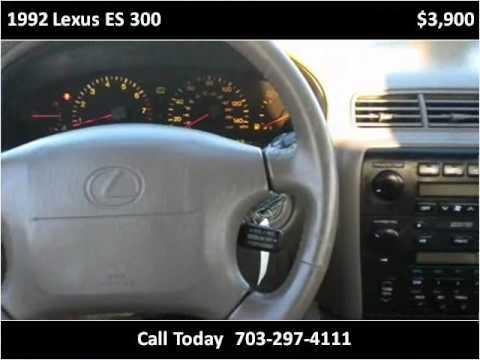 1992 lexus es 300 problems online manuals and repair. Black Bedroom Furniture Sets. Home Design Ideas