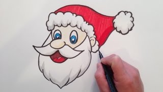 getlinkyoutube.com-How to draw Santa Claus Head