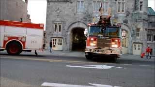 getlinkyoutube.com-MONTREAL FIRE DEPT TRUCKS RESPONDING - STATION 30