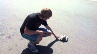 getlinkyoutube.com-Jackass runs over kid's toy with huge truck