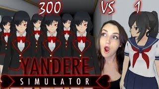 getlinkyoutube.com-300 Nemesis Chans VS 1 Yandere   Yandere Simulator Survival Mod