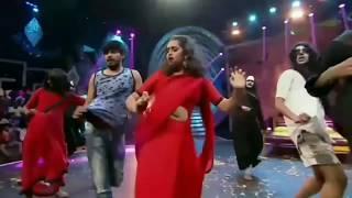 vijay tv anchor jacqueline hot navel show