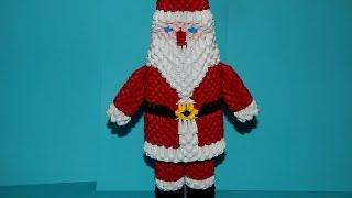getlinkyoutube.com-3D origami Santa Claus tutorial part 1