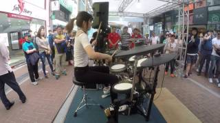 getlinkyoutube.com-여자드러머 김미소 _미션임파서블 드럼 연주_ drummer _misokim_mission impossible(cover)