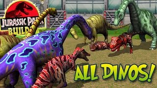 getlinkyoutube.com-ALL MAXED DINOSAURS SPECIAL + STATS! - Jurassic Park Builder | HD