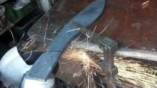 getlinkyoutube.com-Výroba nože z ložiska