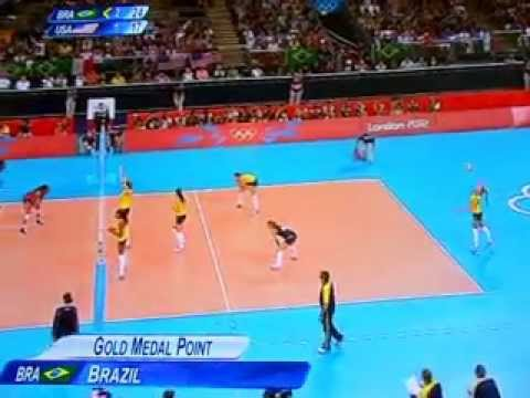usa vs brazil women's volleyball final London 2012 highlights