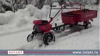 getlinkyoutube.com-Motocultor benzina Rotakt ROG75 cu remorca - la munte