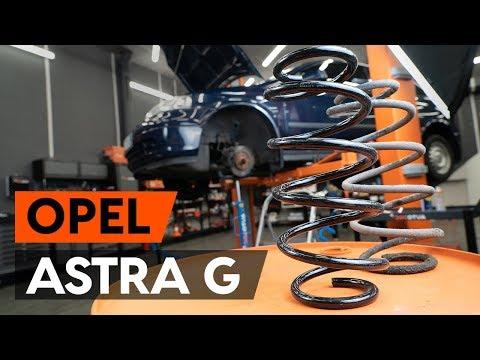 Как заменить пружину передней стойки амортизатора OPEL ASTRA G CC (F48, F08) (ВИДЕОУРОК AUTODOC)