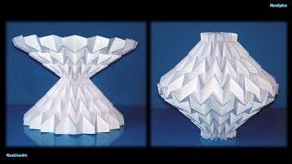 getlinkyoutube.com-Tutorial 13 Pattern Miura Paper Sculpture Reversible