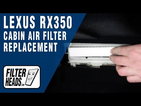 How to Replace Cabin Air Filter 2015 Lexus RX350