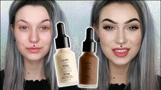getlinkyoutube.com-NEW! NYX Total Control Drop Foundation | Wear Test, First Impression & Review