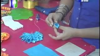 getlinkyoutube.com-Creaciones Solyemar Proyecto Cintillo y bandana con flor en tela
