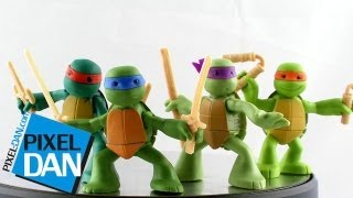 nickelodeon teenage mutant ninja turtles ninjas in training figures video review
