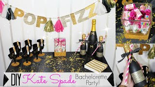 DIY Bachelorette Party - Kate Spade Inspired! - Wedding Series
