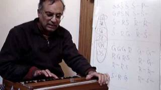 harmonium instruction - lesson 3 - Raga Hamsadwani - Anjaneya Veera