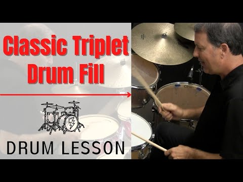 16th Note Triplet Drum Fill - DRUM LESSON with John X
