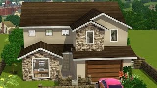 getlinkyoutube.com-Sims 3 House Building - Suburban Vista (My First House)