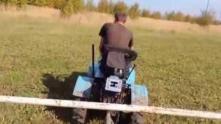 getlinkyoutube.com-Мини трактор из мотоблока вывоз навоза