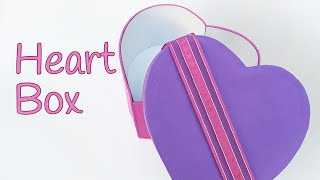 getlinkyoutube.com-DIY crafts: HEART BOX -  Innova Crafts