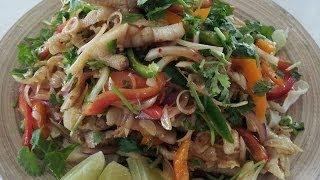 getlinkyoutube.com-C/w Nana: Lao Chicken Feet Salad (ຍຳຕີນໄກ່ == Yum Teen Ghai)