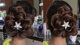 getlinkyoutube.com-Plait to Flower Pattern Hairstyle
