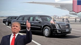 getlinkyoutube.com-President Trump's car: new 'Cadillac One' to be rolled out for the Donald's inauguration - TomoNews